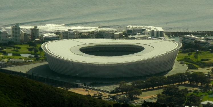 Greend Point Stadium visto da Table Mountain - Ondinhas rolando ao fundo!!