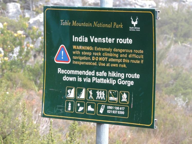 Trilha de descida da Table Mountain