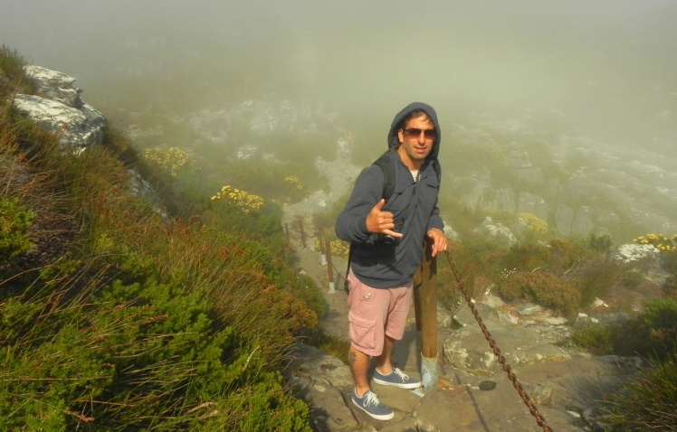 Descendo a Table Mountain pela trilha