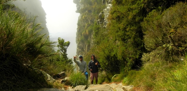 Descendo a Table Mountain pela trilha