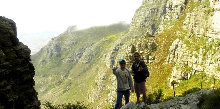 Trilha na Table Mountain